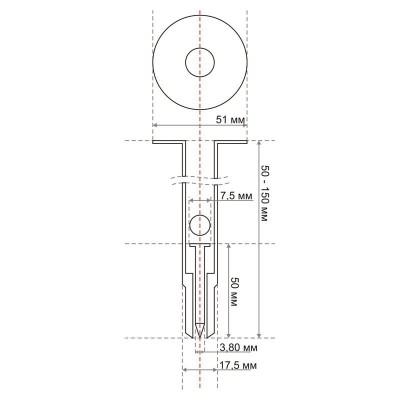 Дюбель-гвозди для монтажа теплоизоляции TOUA тип IN. Схематичное изображение