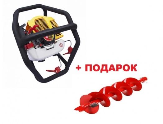 Мотобур Iron Mole E53 Tandem (бензобур)