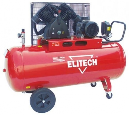 Компрессор масляный с ременным приводом Elitech SKM 15/200 CT4