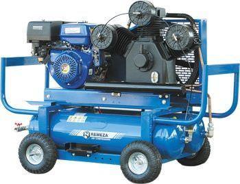 Передвижной компрессор с бензиновым приводом Remeza СБ4/С-90.LB75.SPE390E