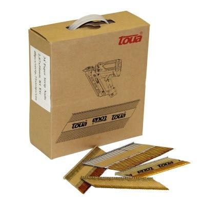 Набор гвоздей для работ по дереву TOUA 2.87x63 с кольцевой накаткой без покрытия. Фото 2