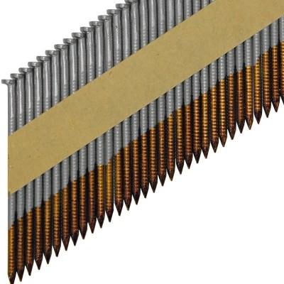 Реечные гвозди по дереву на бумажной кассете D34 с кольцевой накаткой без гальванизации