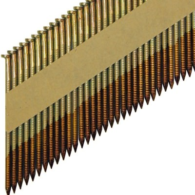 Реечные гвозди по дереву на бумажной кассете D34 с кольцевой накаткой с гальванизацией