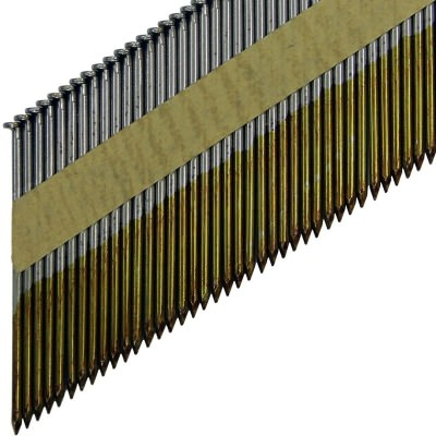 Реечные гвозди по дереву на бумажной кассете D34 гладкие без гальванизации