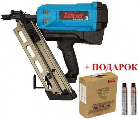 Пистолет газовый монтажный гвоздезабивной TOUA GFN3490CH-C (по дереву)
